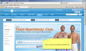 Free Beachbody Account Sign-Up Page Screenshot