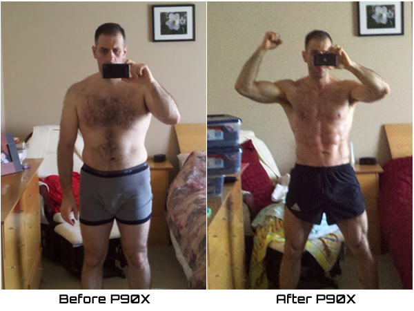 Photo of Me Before and After P90X